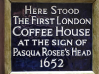 Site of the first coffee house - Walk 6 thb